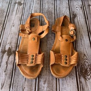Frye Brown Boho Leather Sandals 6.5 6 1/2